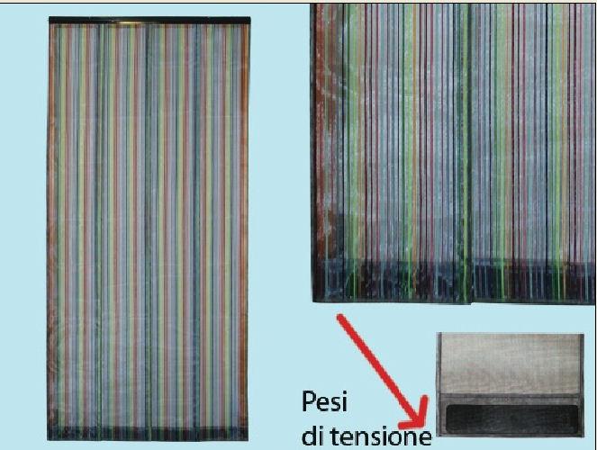 Tenda zanzariera a pannelli colorati verticali cm 100x220h zanzariere porta f ebay - Tenda per porta finestra ...