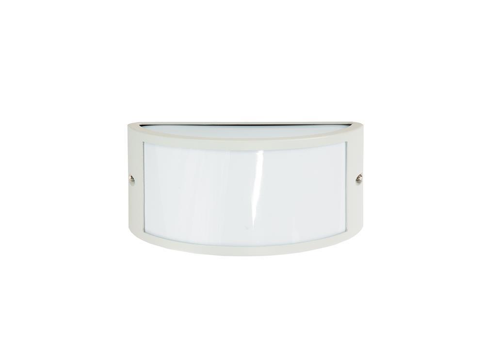 Plafoniere Da Esterno : Bianca lampada applique plafoniera da esterno mezzaluna 25x13 cm