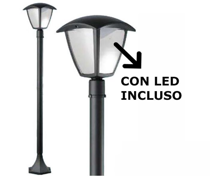 Lampione da esterno al led selene da giardino in alluminio for Lampioni giardino disano