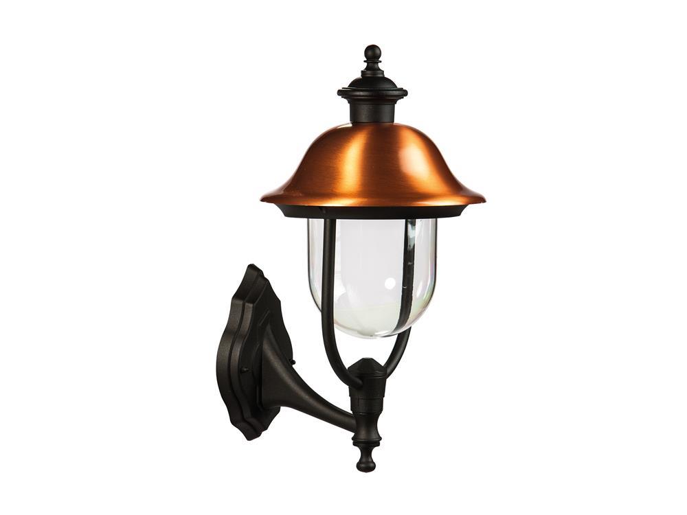 Lampione alluminio rame up applique lampada da esterno 492x257 mm