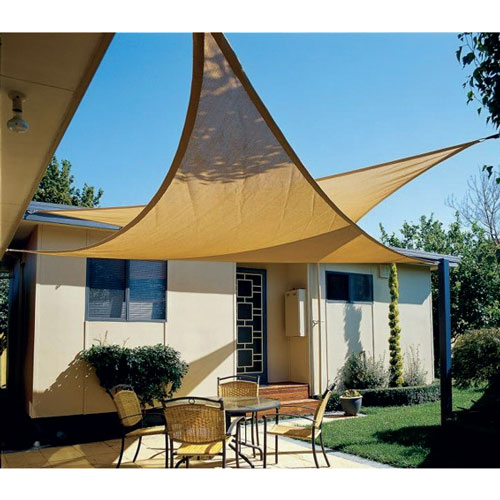 Vela ombreggiante triangolare 3 6x3 6x3 6 mt ecr for Tenda ombreggiante