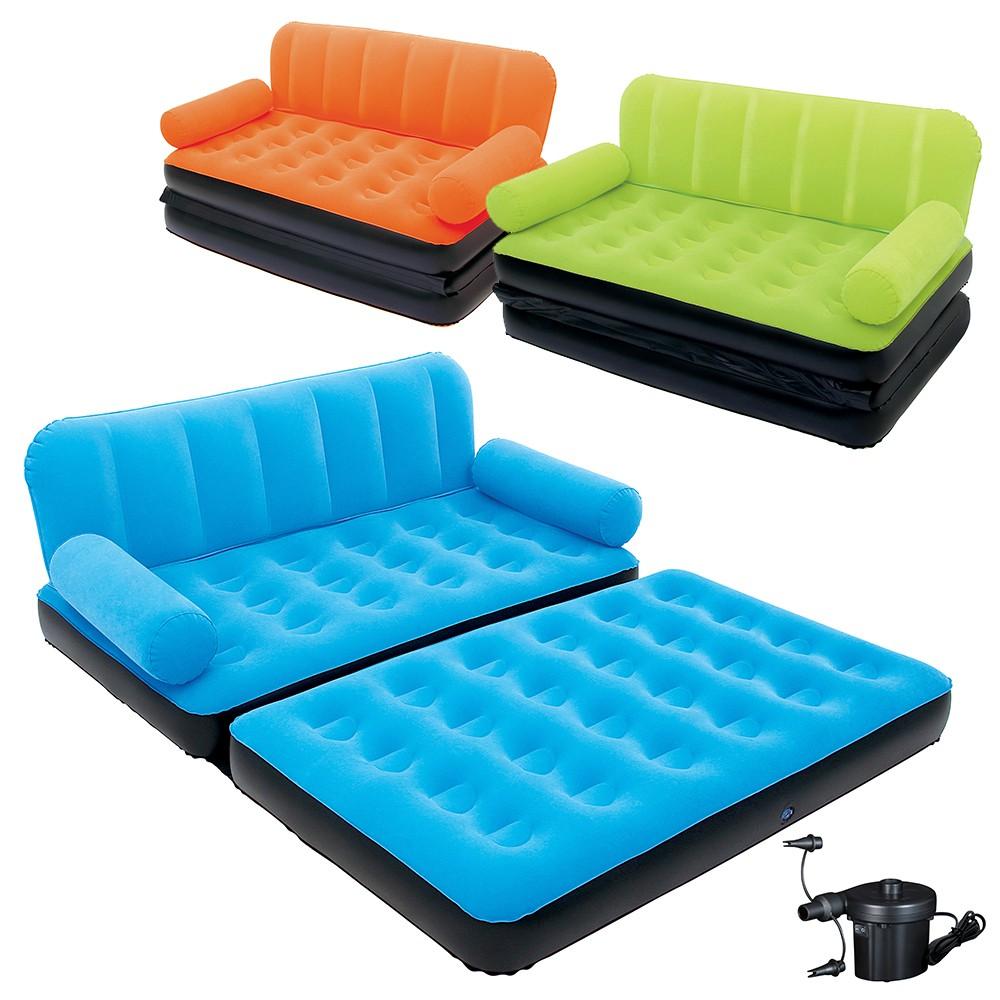 Divano Letto Gonfiabile.Dettagli Su Divano Letto Gonfiabile Sofa Bed Con Pompa 5 In 1 Bestway Sup Floccata