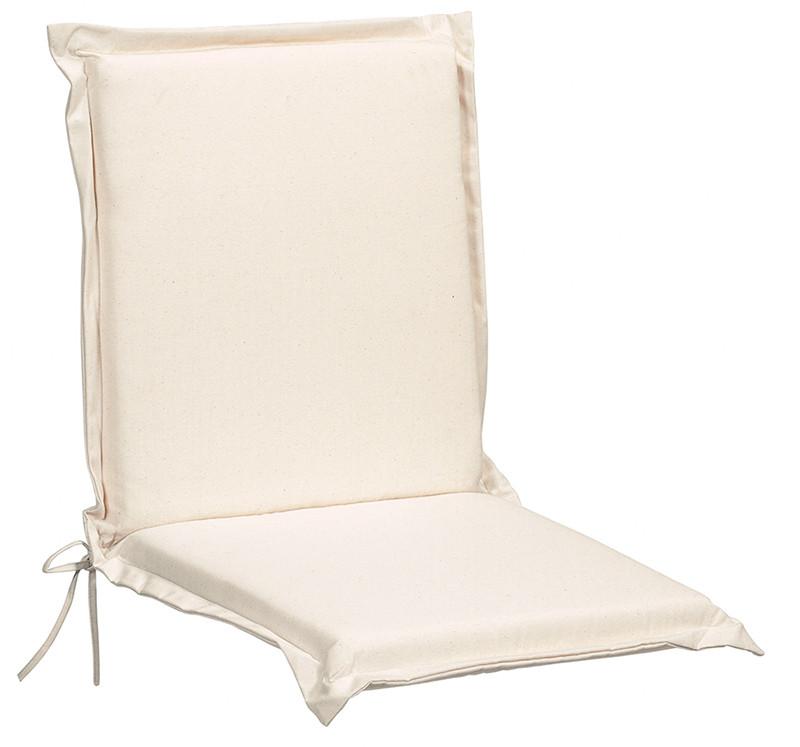 Cuscini Per Sedie Sdraio.Cuscino Per Sedia Sdraio Alto Ecru 115x48x6 Giardino Made In Italy