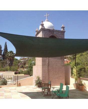 vela OMBREGGIANTE QUADRATA 3x3 Verde - giardino telo copertura tenda