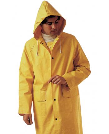 IMPERMEABILE GIALLO  IN PVC - COMPLETO  TAG.  XXL --giacca antipioggia pantalone