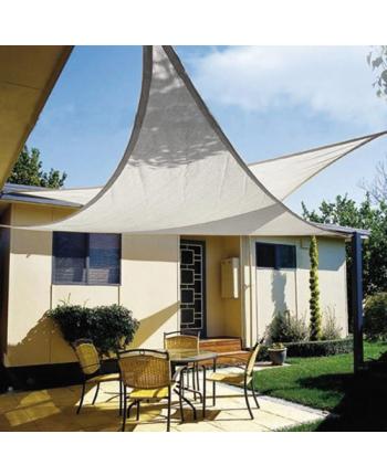 vela OMBREGGIANTE triangolare Bianca 5x5x5mt - giardino telo copertura tenda