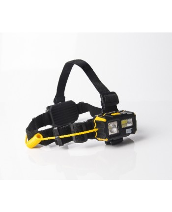 CATERPILLAR - CT4120 - Lampada frontale a 4 funzioni: fascio frontale, flood, frontale rosso, lampeggiatore di sicurezza posteriore rosso