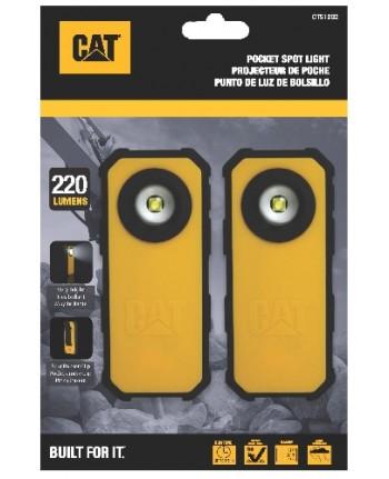 CATERPILLAR - CT51202 - Blister 2 unità: Torcia tascabile 120-250 lumen