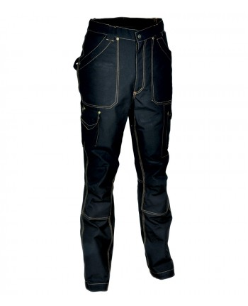 TG46- Cofra Pantalone DUBLIN  multitasche 250 grM2 TECNICO DA LAVORO NERO
