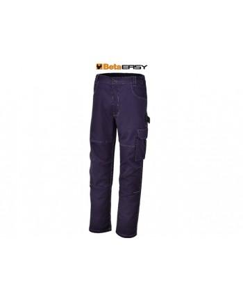 TG S - Pantaloni da lavoro Beta Utensili Work 7840BL T/C twill 245 g blu