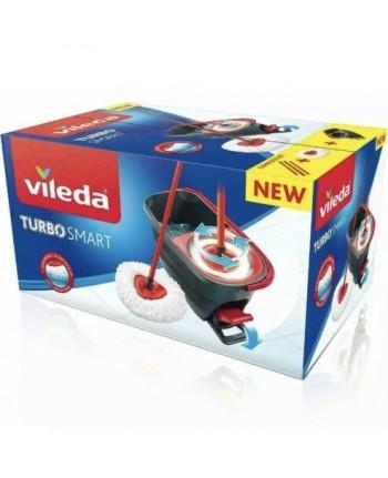 VILEDA TURBO SMART Complete Set secchio lavapavimenti + mocio microfibra+ asta