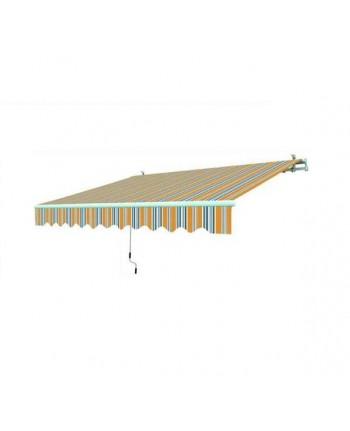 TENDA DA SOLE PER BALCONE ARANCIO-GRIGIO 2,95X2 MT- Con bracci -Struttura allumi