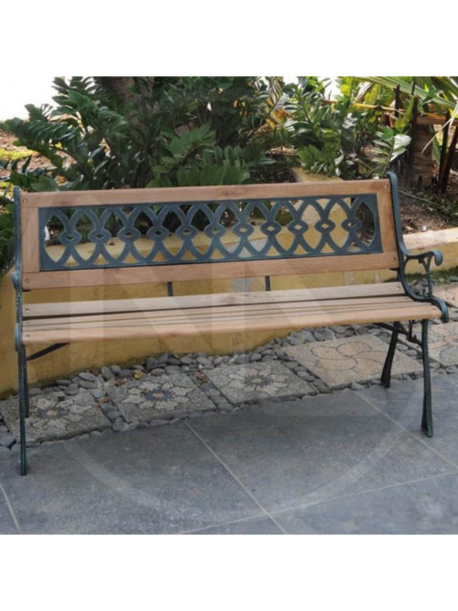 Panchina in legno e ghisa eldorado papillon panchine for Arredamento per esterni