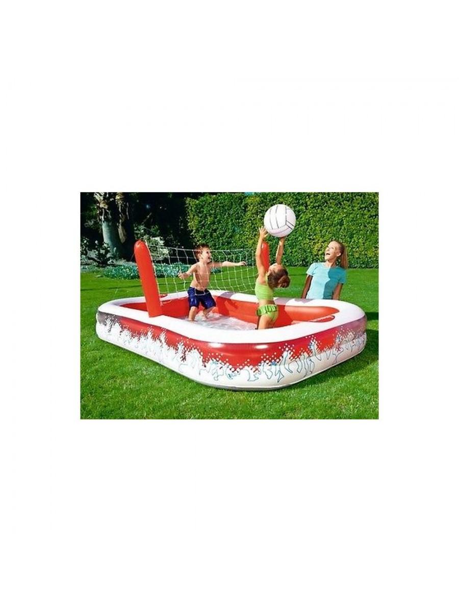 Bestway piscina con rete volley gonfiabile pallavolo palla inclusa 54125 - Rete pallavolo piscina ...