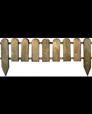 STACCIONATA IN LEGNO di pino  cm 110x3,2x28/45H - IMPREGNATO - recinto inglese