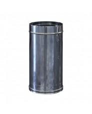 canna fumaria per camini  H 50 CM DIAMETRO 25 INOX