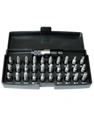 KRAVM - KRAE05981 - Set inserti in acciaio S2 con portainserti in acciaio magnetico - 31 pezzi