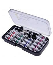 KRAVM - KRAE06013 - Set Inserti Colorati In Acciaio S2 Con Portainserti Magnetico Bloccavite - 15 Pezzi