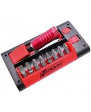 KRAVM - KRAE06014 - Set Inserti In Acciaio S2 Con Portainserti Magnetico Bloccavite - 9 Pezzi