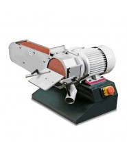 OPTIMUM - OPT054OP0075 - Levigatrice A Nastro E A Disco Modello DBS 75 Con Braccio Mola Orientabile - Diametro Disco 150 mm