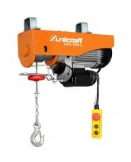 UNICRAFT - UNI6198299 - Mini Argano Elettrico Modello MES 999-2 - Potenza Di Sollevamento Senza/Con Puleggia 500/999 Kg