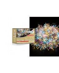 Catena luminosa MULTICOLOR 1536 led cavo 34mt trasparente ALBERO NATALE - Mercury serie gold