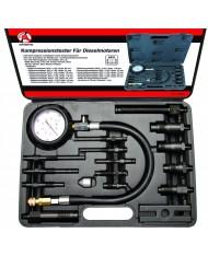 Kit di 19Pz Tester di Compressione per Motore Diesel Auto - Manometro 70 Bar