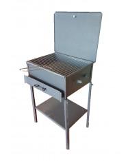 Barbecue artigianale tipo pesante 40x60cm - con coperchio e griglia