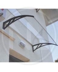 PENSILINA VETRO in POLICARBONATO trasparente120X100cm - TETTOIA da esterno