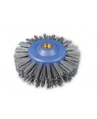 SAIT Spazzola in nylon gr60 abrasiva rusticante SNCR 140x30 M14 per pulizia e sverniciatura