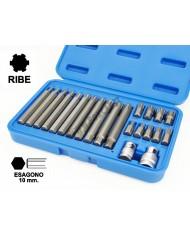 Set 21PZ INSERTI RIBE - KIT INSERTO 10mm CORTI/LUNGHI + ADATTATORI PORTAINSERTI