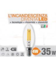 LAMPADINA OLIVA WIRELED - WIVA - E14 - 4W 390 LUMEN - LAMPADA LUCE CALDA 3000K