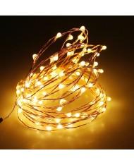 50 led SU FILO IN RAME MODELLABILE lunghezza 5 m a batteria SERIE LUCI - albero di natale natalizie