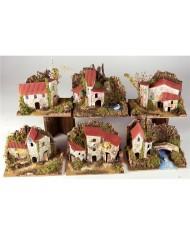 10189 Gruppo di case per presepe cm15x10x12 - Artigianale NATALE