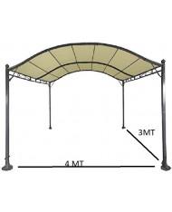 531446 - Gazebo pergola maxi in acciao L4xP3xh2,5mt arredamento giardino arredo esterno