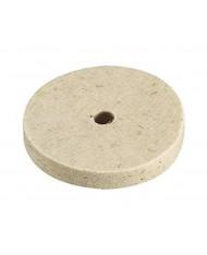 DISCO IN feltro diametro 150x13mm FORO 15mm PER LUCIDARE ACCIAIO LUCIDATURA