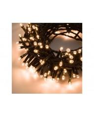 SERIE LUCI LED 450 led LUCE BIANCO CALDO esterni 18.5 m+2 m cavo - albero di natale natalizie