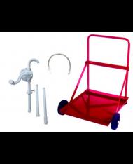 art.538/M-200 - Pompa travaso rotativa per fusti con carrello per urea  -  BONEZZI