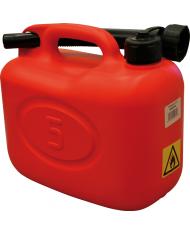 TANICA IN PVC CON FLESSIBILE PER COMBUSTIBILI 10LT benzina motosega carburante