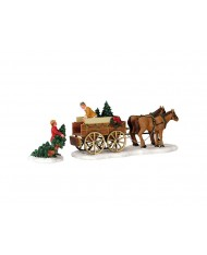 Venditore alberi di Natale-Christmas tree wagon 43451 LEMAX