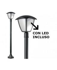 LAMPIONE DA ESTERNO al led SELENE DA GIARDINO IN ALLUMINIO H110
