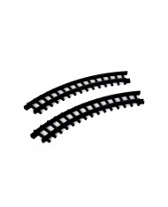 Binari rotaie curve per treno-Curved track for chirstmas express LEMAX