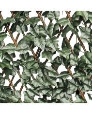 """SIEPE SINTETICA Traliccio estensibile in legno con foglie """"salisbury"""" 2x1mT"""