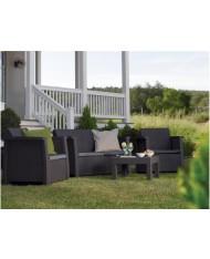 Set da giardino KETER VEGAS salotto con 2 poltrone e divano + tavolino