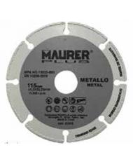 Disco diamantato 115mm per metallo,acciaio,alluminio,ghisa,non ferrosi,ecc... 81018 Maurer