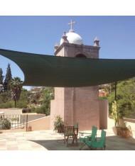 vela OMBREGGIANTE QUADRATA 5x5 Verde - giardino telo copertura tenda