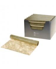Carta con trama fili di oro per decorazione Natalizia 30x500 cm