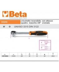 """BETA 910/55 CRICCHETTO REVERSIBILE CON ATTACCO QUADRO MASCHIO 3/8"""" CROMATO"""