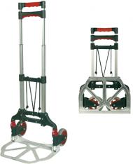 CARRELLO PIEGHEVOLE in ALLUMINIO 60KG MAURER - ruote piene in Nylon -solo 3,7KG
