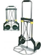CARRELLO PIEGHEVOLE in ALLUMINIO 90KG MAURER - ruote piene in Nylon -solo 4,7KG